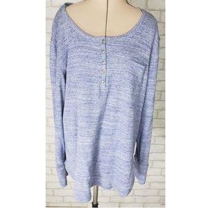 Woolrich Women's Heathered Henley Shirt XXL